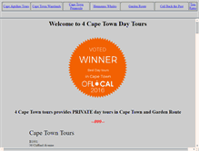 Tablet Preview of 4capetours.co.za